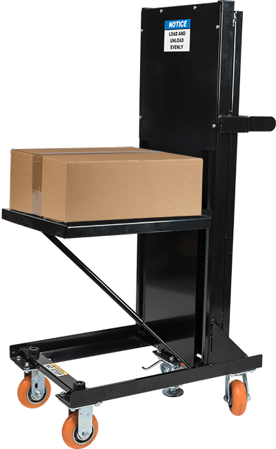 Self-leveling Cart: partially loaded